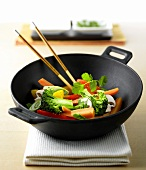 Vegetable dish in wok