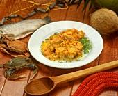 Muqueca de pescado (fFsh ragout with palm vinegar, S. America)