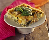 Potato, spinach and cheese tart