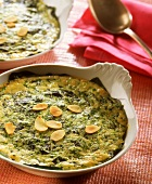Clafoutis aux épinards (spinach pudding, France)
