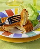 Mozzarella in carrozza (fried mozzarella sandwich, Italy)