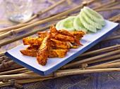 Kozhi shulli (spicy fried chicken breast, India)
