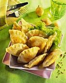 Pierogi (cheese and potato pasties, Russia)