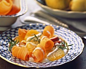 Carrot salad with orange segments
