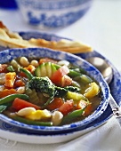 Vegetable stew of summer vegetables with pistou