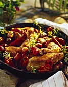 Provençal braised chicken with tomatoes (France)