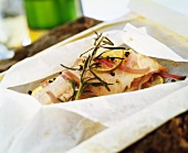 Trout in herb stock