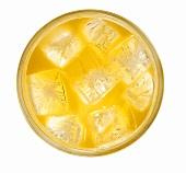 Orange juice with ice cubes