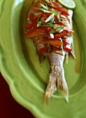 Fish with sweet and sour vegetables