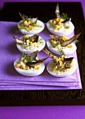 Yaitsa po-russki (Russian eggs with sprats, Russia)