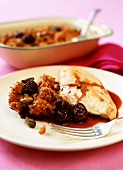 Chicken breast with cherry compote & pistachio nut crumble
