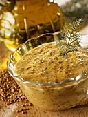 Home-made mustard sauce