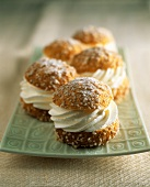 Chouquettes chantilly (cream puffs, France)