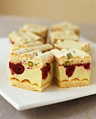 Sponge finger cake with pistachio & Morello cherry cream