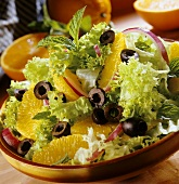 Endive with orange wedges and olives