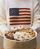 Several different American cookies