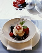 Zabaglione al marsala (Frozen sabayon with berries, Italy)