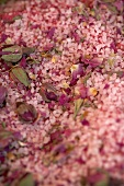 Salt with rose petals (filling the picture)