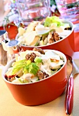 Two bowls of Waldorf salad