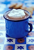 Cocoa in blue mug