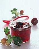 Gooseberry and cherry jam