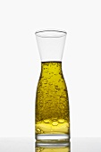 Emulsion of oil and vinegar in a carafe