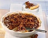 Pecan pie with pumpkin