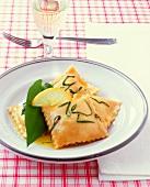 Ravioli with ramsons filling & lemon butter
