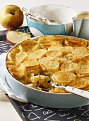 Ofenschlupfer (bread roll pudding with apple)