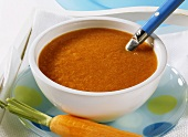 Nourishing vegetable soup with carrots (for sick children)