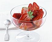 Fragole all' acetato balsamico (Balsamico-Erdbeeren, Italien)