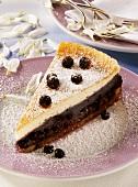 A piece of blueberry nut cake