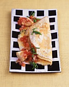 Omeletts mit Artischockengemüse