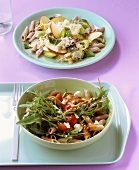 Two different pasta salads