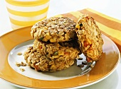 Vegetable burgers with rolled oats for children