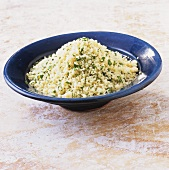 Cooked couscous with herbs