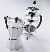 Espresso pot and glass filter pot