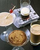Four coffee specialities with liqueur