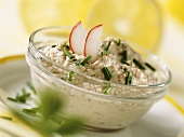Tofu and radish spread with chives