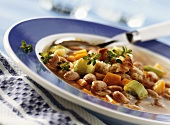 Bean cassoulet with wholemeal toast