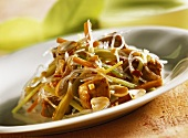Pork fillet with glass noodles and peanuts