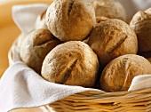 Buttermilk rolls in bread basket
