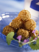 Sweet oat balls with brown sugar