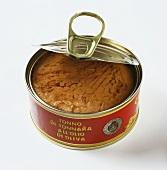A tin of tuna in olive oil