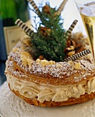 Paris Brest (choux pastry with mocha filling, France)
