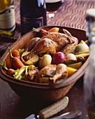 Waterzoi de poulet (chicken and vegetable stew, Belgium)