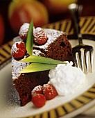 Gateau au chocolate (piece of chocolate cake, France)