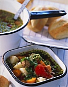 Potée paysanne (beef and vegetable stew, France)