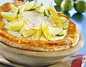 Tarte feuilletée (puff pastry tart with lemon cream)