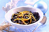 Poppy seed noodles (traditional Christmas dish, Poland)